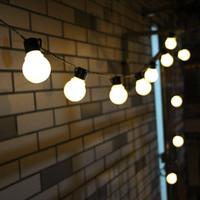 açık dize peri ışıkları toptan satış-6 M 20 LED Dize Işık Açık Peri Işıklar Garland G50 Ampuller Bahçe Veranda Düğün Noel Dekorasyon Işık Zinciri su geçirmez