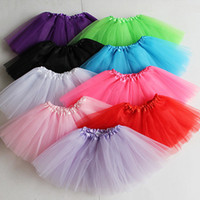 Wholesale classic boutique clothing resale online - Girls Tutu Skirt Summer Toddler Boutique Pleated Mini Skirts Party Costume A Line Ballet Dresses Kids Clothes Color Hotsell A42504