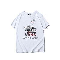 ingrosso magliette bianche da golf-Maglietta bianca T-shirt da uomo T-shirt da uomo stampata T-shirt in cotone con stampa t-shirt da uomo