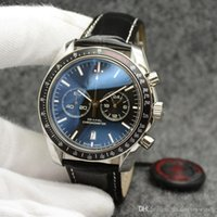 Wholesale quartz tachymeter watch resale online - Outdoor Men Watch MM Quartz Chronograph Mens Watches Wrtistwatches Black Dial With A Black Top Ring Showing Tachymeter Markings