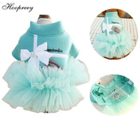 Wholesale dresses puppies resale online - 2019 Spring Princess Tutu Skirt Tulle Dress Dog Clothes Bow Tie Elegant Cat Dress for Small Puppy Dogs Kittens vestido perro A