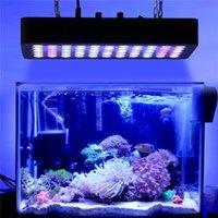 led recife luz espectro completo venda por atacado-LED Aquarium Luz 165W Full Spectrum Regulável para tanque de peixes Coral Reef Crescimento em água doce e salgada com Azul Branco