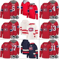 hokey hoodie montreal toptan satış-Montreal Canadiens Kapüşonlular 100 Yama 6 Shea Weber 27 Alex Galchenyuk 31 Carey Fiyatı 43 Daniel Carr 67 Max Pacioretty Hokeyi Formalar