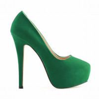 chaussures de chaussures chaudes pour filles achat en gros de-Robe Hot Fashion Femmes Chaussures Dames Filles Caché Plate-Forme Stiletto Talons Hauts De Mariage Bonbons Belles Couleurs