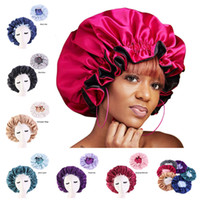 New Silk Night Cap Hat Double side wear Women Head Cover Sleep Cap Satin Bonnet for Beautiful Hair - Wake Up Perfect Daily Factory Sale DHL