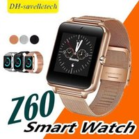 u8 smartwatch sim оптовых-Z60 Bluetooth Smart Watch Phone Smartwatch с поддержкой нержавеющей стали SIM TF Card U8 GT08 GT09 DZ09 Smartwatch для IOS Android DHL