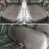 Wholesale sedan chair resale online - Leather Car Seat Cover Cushion Universal Auto Interior SUV Sedan Seat Protector Front Rear Pad Waterproof Chair Mat Four Season