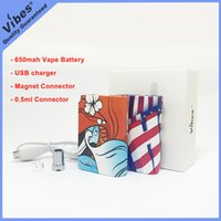 Wholesale vape magnets resale online - Best Vape Battery Mod for ml Cartridges Original Vibes Chan Box mah Voltage Variable Battery Thread With Magnet Connector For G5