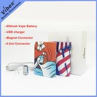 meilleur vape batterie mod achat en gros de-Le meilleur mod de batterie de Vape pour des cartouches de 1ml - original Vibes Chan Batterie 650mah Tension Variable Batterie 510 fil avec le connecteur d'aimant pour G5