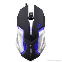 game mouse al por mayor-Ratón para juegos con cable Ajustable 1600 ppp Colorido Luz LED 4D Ratones de juego para PC Ordenador portátil Tableta