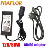 Wholesale cigarette dc plugs resale online - 12V W AC V V Cigarette Lighter Converter AC DC Power Laptop AC Adapter Inverter Power Supply Charger Adapter EU Plug
