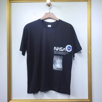 Wholesale photo print shirts for sale - Group buy 19ss Fashion High Quality Monkey time X Nasa Rocket Spaceflight Photos Oversized Men Women Street Cotton Hoody Casual Short Sleeve T Shirt
