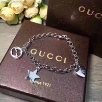 Wholesale best stainless steel charms resale online - Europe Designer Bracelets for Men and Woman gg Chain Hip hop Charm Bracelets Fashion bangle Luxury jewelry With box Best Gift
