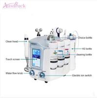 micro bio großhandel-EU steuerfrei Portable 6 in 1 Aqua sicher H2O2 Tiefenreinigung Galvanica Gesichtswasserspray Mikrostrom Bio Roller Massage Gesichtsgerät