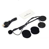 Wholesale earphone headset bluetooth car resale online - New Ultra thin Motorcycle Helmet Wireless Bluetooth Headset Moto BT Earphone Helmet Speaker with Sponge Microphone car