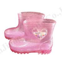 Wholesale boys jellies shoes resale online - Child LED Rain Boots Kids Luminous Short Rain Shoes Girls Boys Jelly Glitter Rain Boot Sequinse heart transparent Clear Shoes A110705