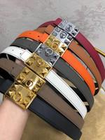 Wholesale double head needle resale online - fashion brand designer belts double sided head with copper clasp designer luxury belts womens h belt cm