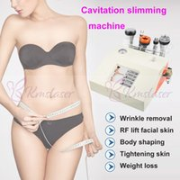 Wholesale bipolar radio frequency machine resale online - 2020 New Radio Frequency Bipolar Ultrasonic Cavitation in1 Cellulite Removal Slimming Machine Vacuum Weight Loss Beauty Equipment Spa