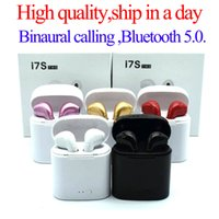 Wholesale headset bluetooth stereo earbuds for sale - Group buy Bluetooth Headphones I7 I7S TWS Twins Earbuds Mini Wireless Earphones Headset with Mic Stereo V5 for phone Android with retail Package