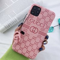 Wholesale new china phones resale online - New Fashion Luxury Designer Phone Cover for iphone pro max X XR Xsmax plus Top Quality Embossed Leather Hard Shell Phone Case