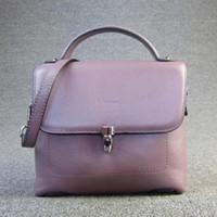 Wholesale sky bags for girl resale online - Designer Brand Popular Fashion Style Small Flap Bag Real Cowhide Ladies Genuine Leather Handbag Women Shoulder Messenger Bags For Girls