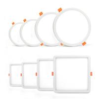 plafones de baño cuadrados al por mayor-Techo Redondos Panel de luz LED ultra delgada de Downlight AC85-265V 6W 8W 15W 20W luz empotrable para baño interior Iluminar
