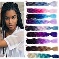 extensões de cabelo ultra venda por atacado-THEFOUND Kanekalon Ultra cabelo para extensão de trança longa sintética Afro Twist