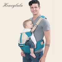 um ombro portador de bebê venda por atacado-Honeylulu Oco Um Portador de Bebê Ombro Respirável Sling Para Recém-nascidos Quadris Ergonómica Carrycot Canguru Para Bebê Envoltório Hipsit
