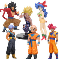Wholesale black anime action figures resale online - dragon ball z Anime DragonBall styling child goku Trunks Vegeta lunchi scale Dragon Ball Z Action Figure PVC Collectible Model Toys