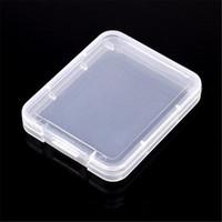 caja de almacenamiento de tarjetas sd al por mayor-Caja de plástico de la tarjeta CF caja transparente caja blanca caso de almacenamiento de tarjeta de memoria estándar MS sostenedor para el caso TF tarjeta micro SD XD