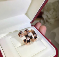 14k coreia de ouro venda por atacado-Brincos de luxo designer de moda Clássico da série 925 sterling silver glossy screw print Único brincos de diamante subiu platina e ouro