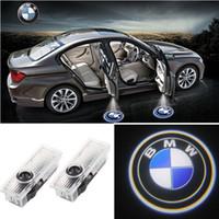 laser logotipo levou bmw venda por atacado-2x Porta do carro LED Logotipo Luz Laser Luzes do projetor Sombra fantasma Lâmpada de boas-vindas Instalação fácil para BMW M E60 M5 E90 F10 X5 X3 X6 X1 GT E85 M3