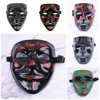 Wholesale masquerade mask christmas for sale - Group buy V shaped camouflage style Mask Party Masquerade dance props Halloween role playing tool V shaped mask T3I5374