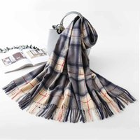 Wholesale blanket lady resale online - New Winter Scarf Women Thick Warm Shawls And Wraps Large Soft Neck Scarves Cashmere Blanket Scarfs Lady Pashmina Echarpe