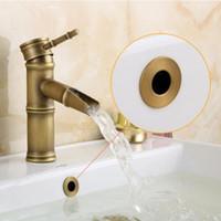 nova bacia de design venda por atacado-Novo design antigo bacia banheiro / Sink Overflow Cover / latão de seis pés anel Banheiro Produto Bacia Tidy Inserir substituição