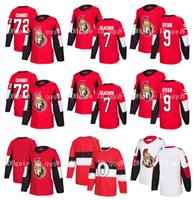 ottawa hokeyi formaları toptan satış-Ottawa Senatörler Formalar 7 Brady Tkachuk 72 Thomas Chabot Jersey 9 Bobby Ryan Boş Kırmızı Beyaz Hokeyi Jersey