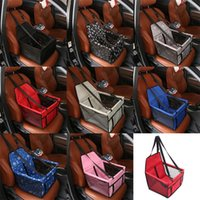 Wholesale classic small cars resale online - Pet Carrier Car Seat Cover Portable Carriers Bags Folding Kennel Waterproof Oxford Cloth Bite Resistance Colors Mix ss F1