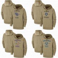 titan sweatshirt toptan satış-Servis Sideline Kazak Hoodies için Erkekler Tennessee Kazak Titan Oakland Tan Raider Minnesota Kadınlar Viking Indianapolis Gençlik Colt Salute