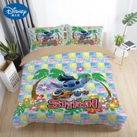 Wholesale full bedding sets for adults for sale - Group buy Stitch Bedding Sets Twin Full Queen King Cartoon Quilt Cover Pillowcase Sheet Bed Duvet Cover Set for Children Adult