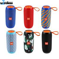 colunas para bluetooth portáteis venda por atacado-Ao ar livre falantes sem fio TG106 Bluetooth Speaker Portátil Wireless Speaker 1200mAh Suporte atender o telefone com pacote de varejo