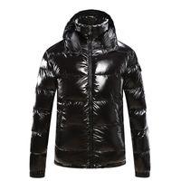 chaqueta asiática de los hombres al por mayor-Abrigo de diseñador para hombre con capucha otoño invierno rompevientos abrigo grueso grueso de lujo con capucha outwear chaquetas luminosas tamaño asiático ropa para hombres