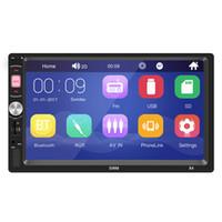 dash player android al por mayor-Bluetooth 4.0 compatible con Android 8.1 y IOSMusic Player1021 * 600 7 pulgadas Tocar en el tablero Auto Audio Player X4 MP5 Player Autoradio