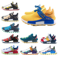 medios humanos al por mayor-2019 NMD Pharrell X Human Race Runner Designer sneakers para hombre zapatos deportivos casuales zapatos de lujo para mujer zapatos para correr alta calidad Runner 36-47