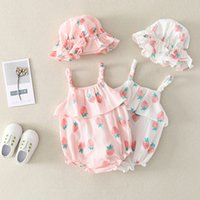 Wholesale babys jumpsuits resale online - Baby clothes summer dress triangle Princess sling crawling clothes babys jumpsuit one piece of hair substitute