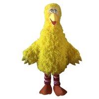 büyük kuş maskotu kostümleri toptan satış-Büyük Sarı Kuş Maskot Kostüm Karikatür Karakter Kostüm Partisi Ücretsiz Kargo