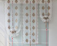 panel de estilo moderno al por mayor-Estilo europeo moderno bordado cortina de tul para el dormitorio sala de estar decoración del hogar Panel Sheer blanco suave ventana de tratamiento decoración para el hogar