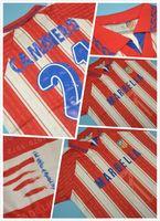 üst kulüp forması toptan satış-En kaliteli 1996 Kulübü Atlético ev retro formalar KLASIK forması 14 # SIMEONE 19KIKO 21 # CAMINERO