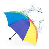 guarda-chuva venda por atacado-2019 Colorido Durável Crianças Guarda-chuva Parasol Rainbow Dobrável Guarda-chuva de Proteção Crianças De Chuva E Sol Parapluie Brolly