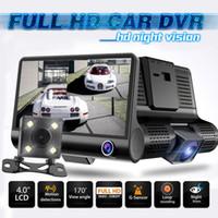 Wholesale car dvrs for sale - 4 Way Car DVR Camera Video Recorder Rear View Auto Registrator Two Cameras Dash Cam DVRS Dual Lens DHL