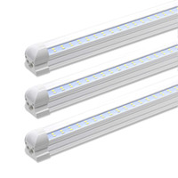 floresan ışık fikstürleri t8 toptan satış-5000K Beyaz 4FT 8FT 28W / 72W Entegre Çift Sıralı LED T8 Tüp ışık 7200LM SMD2835 1.2m 2.4m led floresan aydınlatma armatürü